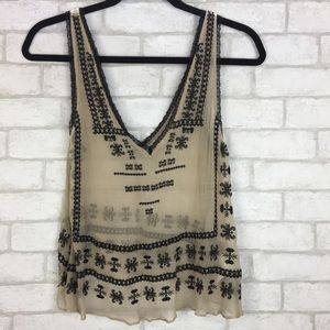 Ecote Small Embroidered Top